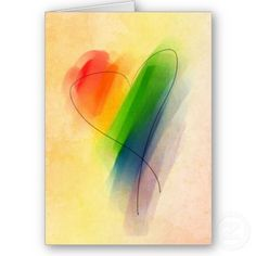 Perfect. Watercolor rainbow heart tattoo for Sara. <3