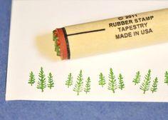 Tree Trio Rubber Stamp
