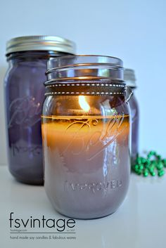 Heritage Purple Ball Mason as a Fabulous Soy Candle available at www.fsvintage.com