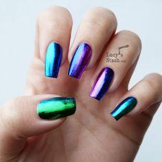 Lucy's Stash: Gradient Nail Foil Manicure feat. Born Pretty Store Nail Foils