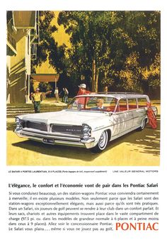 1963 Pontiac Laurentian Safari Poster Size Advert by AtomicScrapbook on Etsy