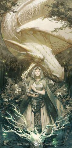 I just love pixiv fantasia! Amazing fantasy rpg like arts around! Fantasy Artwork, Dragon Medieval, Pixiv Fantasia, Fantasy Kunst, Dragon Pictures, White Dragon, Art Et Illustration, Fantasy Inspiration, Dragon Art