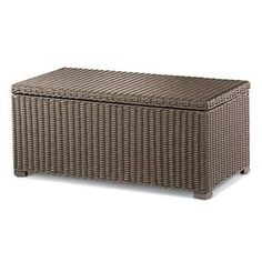 Heatherstone Wicker Patio Storage Trunk Coffee Table - Threshold™ : Target