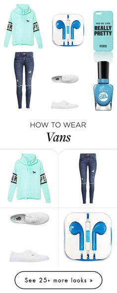 """Outfit 323"" by girlychic1114 on Polyvore featuring Victoria's Secret PINK, H&M, Vans, PhunkeeTree and Sally Hansen"