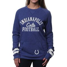 '47 Brand Indianapolis Colts Ladies Homefield Crew Sweatshirt - Royal Blue