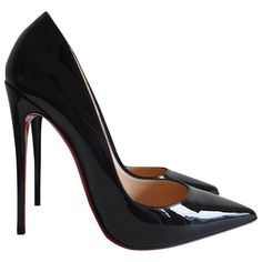 Pre-Owned Christian Louboutin So Kate Black Patent Leather Heels Black Patent Leather, Leather Heels, Pump Shoes, Pumps, Red Bottom Shoes, Christian Louboutin So Kate, Red Sole, Red Bottoms, Toe Shape