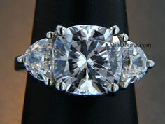 three-stone-cushion-cut-MiaDonna 5ct cushion 1ct half moon stones