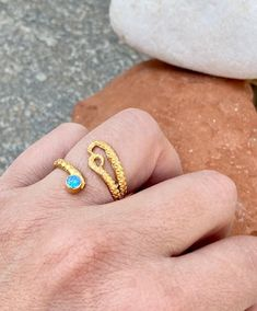 Purple Stone Rings, Blue Rings, Gold Rings, Blue Gemstones, Topaz Gemstone, Gemstone Rings, Octopus Ring, Evil Eye Necklace, Adjustable Ring