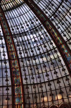 Colored Glass | Galleria Lafayette mall, Paris