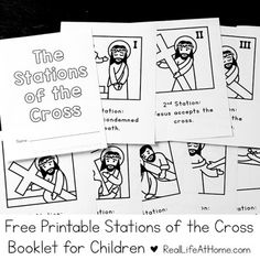 Free Printable Stations of the Cross for Children | Real Life at Home