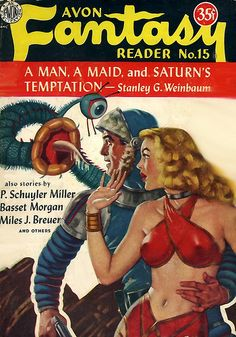 Avon Fantasy Reader #15 trying to be more ludicrous than the next magazine.