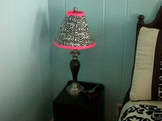 lamp shade covered in duck tape