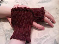 In, Out, Around, and Through: A Crochet Notebook: Free Pattern-Short and Sweet Fingerless Gloves