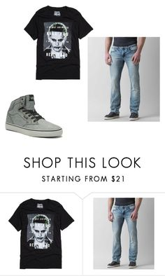 """""""Men's Outfits"""" by lexidonovan on Polyvore featuring DC Comics, Buckle Black, Vans, men's fashion and menswear"""