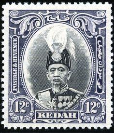King George VI Malaya - Kedah 1937 Sultan Abdul Hamid Halimshah