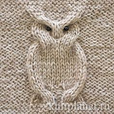I don't speak that language, but maybe my mom can figure it out bc this is super cute. Owl Patterns, Baby Knitting Patterns, Lace Knitting, Stitch Patterns, Knitted Owl, Knitted Cushions, Knitted Hats, Knitting Projects, Crochet Projects