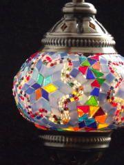 New Turkish Mosaic Lamp - Desk type - Medium - Blue Mix モザイクランプ デスクタイプ(中)ブルーミックス