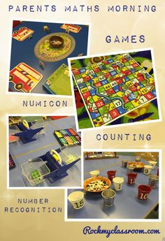 Some activities we set out for our parents maths morning