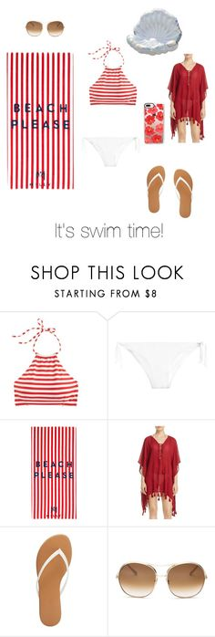 """""""It's time for another summer swim"""" by kaydance2088 ❤ liked on Polyvore featuring J.Crew, Milly, BECCA by Rebecca Virtue, Charlotte Russe, Chloé, Casetify and swimsuit"""
