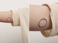 Solar Eclipse - 20 Minimalist Tattoos for the Design Lover via Brit + Co.