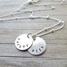 Personalized Mini Mom Necklace  Petite Sterling by CamileeDesigns