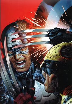Captain America vs Wolverine by Jim Cheung