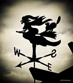 Old Witch of the Wind Weather Vane by StainlessSteve on Etsy from StainlessSteve on Etsy. Saved to This is Halloween . Holidays Halloween, Vintage Halloween, Halloween Crafts, Halloween Decorations, Halloween Clothes, Halloween Witches, Happy Halloween, Witch Cottage, Weather Vanes