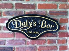 The Carving Company | Full Service Custom Carved Sign Shop | Carved Bar / Pub Sign (BP9)