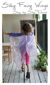 Cat on a Limb: Homemade Silky Fairy Wings -- Christmas Gift Idea