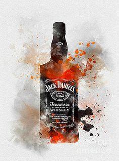 Jack Daniels by Rebecca Jenkins Whisky Jack, Whiskey, Jack Daniels Decor, Jack Daniels Gifts, Jack Daniels Bottle, Regalos Jack Daniels, Jim Beam, Bebidas Jack Daniels, Jack Daniels Tattoo