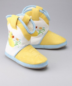 Take a look at this Rainy Day Duck Cowgirl Slipper by Cicciabella on #zulily today!