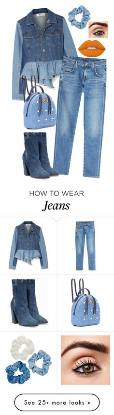 """All Jeans"" by anacarolcd96 on Polyvore featuring Sea, New York, Citizens of Humanity, Gucci, Dries Van Noten and Mudd"