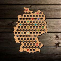 Deutschland Karte zum Sammeln von Kronkorken | FANCY GIFTS
