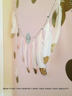Pearls & Pastries Shop : Search results for gold feather garland