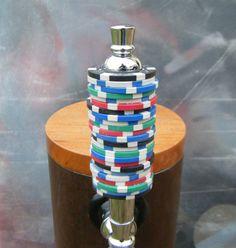 Poker Chip Beer Tap Handle for bar or kegerator