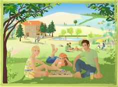 stage de Go accueil, summer Go camp, illustration and web site by Domie Future Games, Go Game, Tabletop, Board Games, Past, Stage, Illustrations, Summer, Gaming