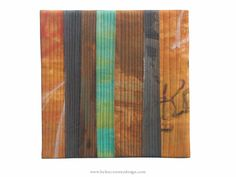 """Graffiti 4a. Art Quilt by Helen Conway 8"""" x 8"""" stretched over canvas www.helenconwaydesign.com"""