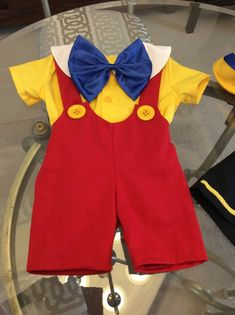 Pinocchio costume 5 pieces shirt, short, vest, bow and hat (sizes 6 months to Pinocchio, Boy Costumes, Disney Costumes, Family Halloween Costumes, Disney Halloween, Baby Halloween, Pinnochio Costume, Donald Duck Costume, Baby Boy Outfits