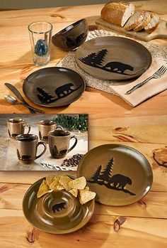 Woodland Dinnerware Stoneware-Bear  Wild Wings & Home Studio Woodland Dinnerware - Red | Decor Ideas | Pinterest ...