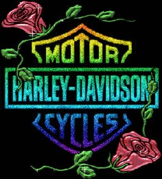 Harley-Davidson Glitter Graphics   Flowers Graphic – Harley Davidson