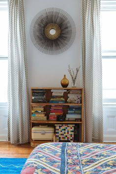 Adam & Ellen's Inspired Brooklyn Brownstone Jacquard Leaf Curtains from west elm . Grown Up Bedroom, Leaf Curtains, Brooklyn Brownstone, Floor Patterns, Apartment Interior, Floor Rugs, Decorating Your Home, Decorating Tips, Home Interior Design