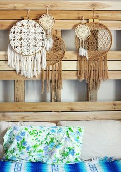 Food Coma - recipes, DIYs, decor inspo  (these are dreamcatchers made from shawls)