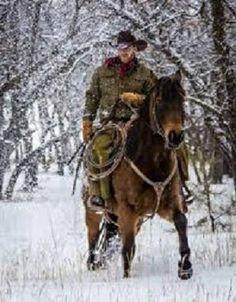 Cowboy in winter
