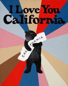 """I Love You California"" Windsor Bear Print by Annie Galvin"