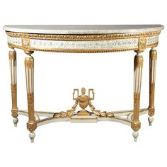 Louis XVI period Demi lune console table  | From a unique collection of antique and modern console tables at http://www.1stdibs.com/furniture/tables/console-tables/