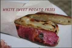 BBQ grilled white sweet potato fries a great side dish for any meal