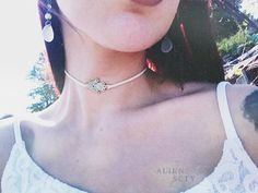 Hamsa Hand classic Suede Choker with knots/ by Alienscty on Etsy