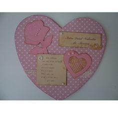 Réalisez une carte avec un coeur en relief pour la St Valentin : Michèle C