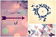 Gossip Girl inspired DIY butterfly clock