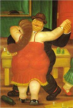 """""""Español en acción"""". Actividad de cierre. Pareja bailando - Fernando Botero. Wikiart"""